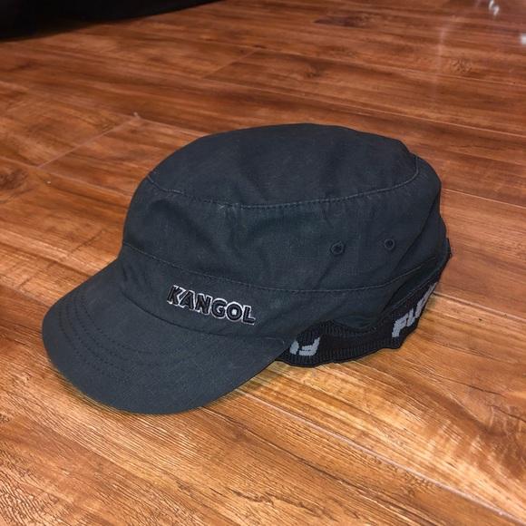 34c1015a Kangol Accessories | Cotton Flexfit Twill Army Black Pocket Cap ...